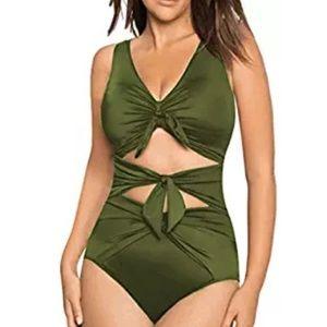 Green monokini